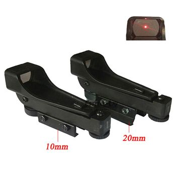 Taktik Refleks sight Red Dot Sight Kapsam Geniş 10/20mm Görünüm Airgun Weaver Rail Mounts1x20x30 Tüfek Airsoft