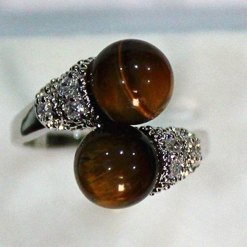 Natural Stone charming 8mm tiger eye stone ring P(#6 7 8 9) Genuine Handmade Women Gift word 925 silver
